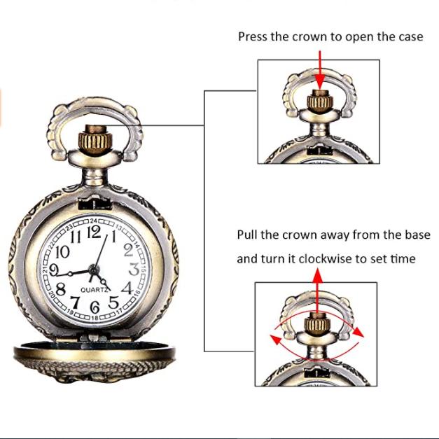 ساعت جیبی عقربه ای کد HR24