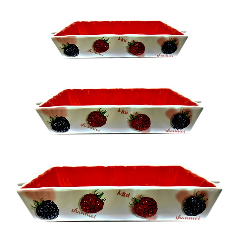 ظرف پخت زاراهوم طرح تمشک مدل 3714 مجموعه 3 عددی