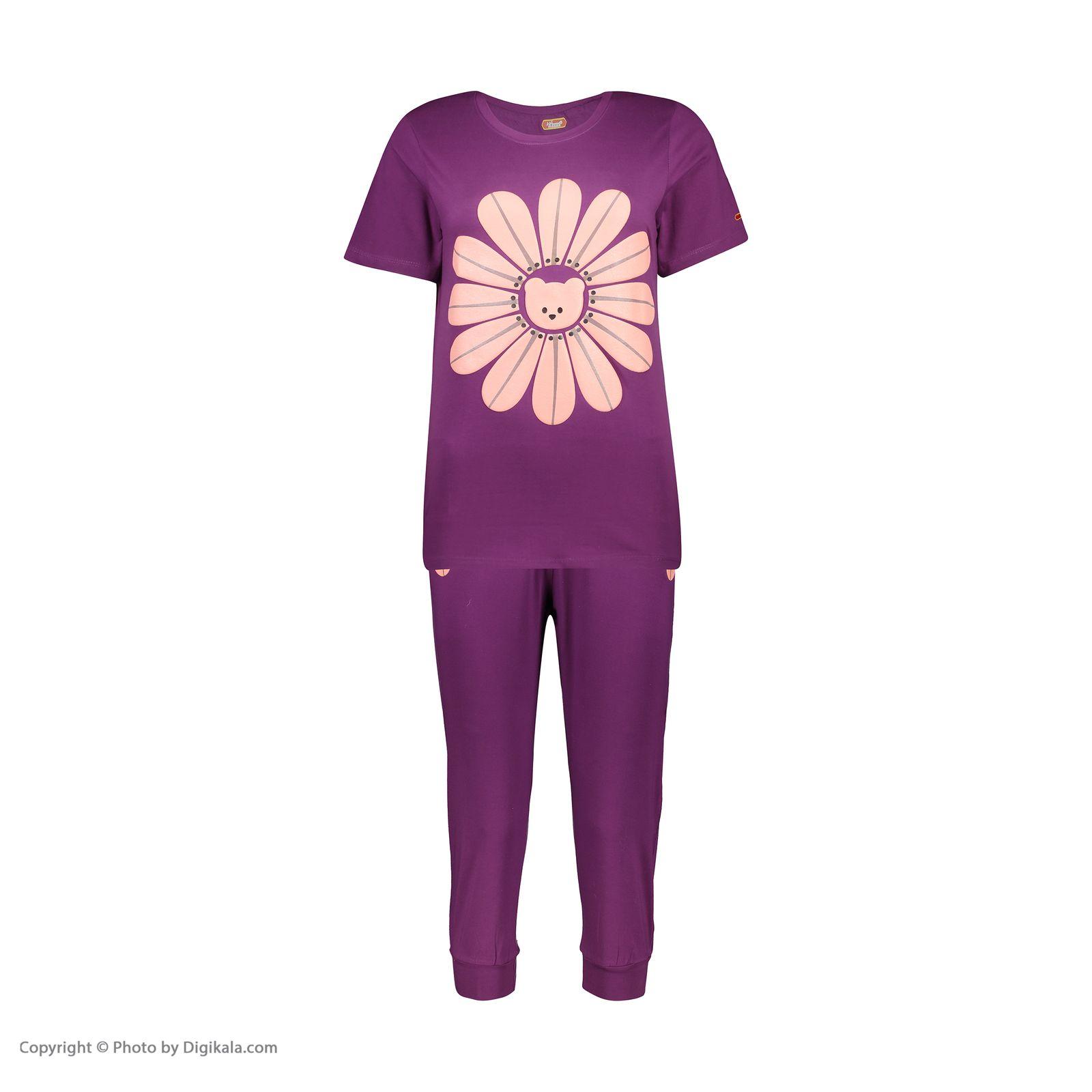 ست تی شرت و شلوارک راحتی زنانه مادر مدل 2041101-67 -  - 3