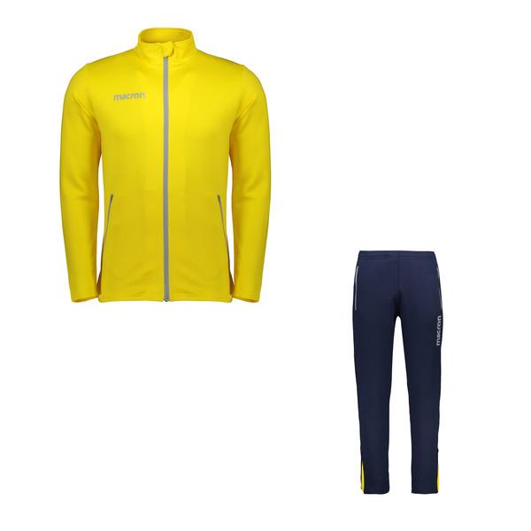 ست سویشرت و شلوار ورزشی مردانه مکرون مدل نمسیس رنگ زرد