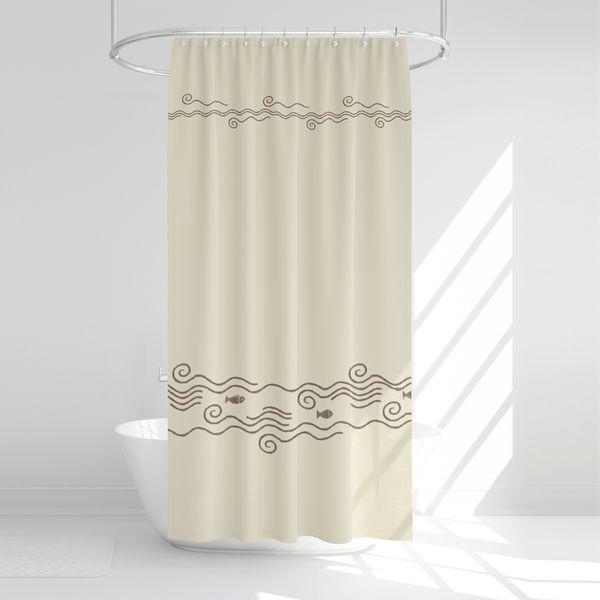 پرده حمام آرمیتا کد W045 سایز 180 × 200 سانتی متر