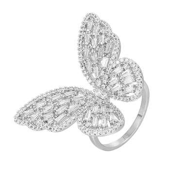 انگشتر زنانه طرح پروانه کد R3005
