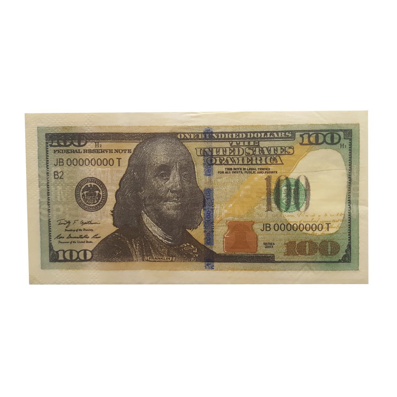 دستمال  کاغذی  جیبی  10  برگ  طرح  دلار کد  W200