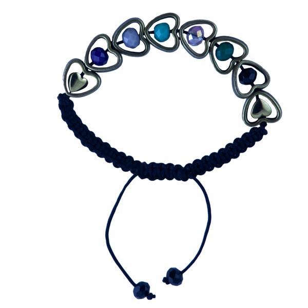 دستبند دخترانه طرح قلب کد 1155