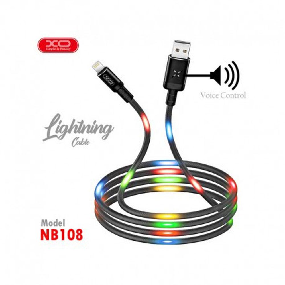 کابل تبدیل USB به لایتنینگ ایکس او مدل NB108 طول 1 متر
