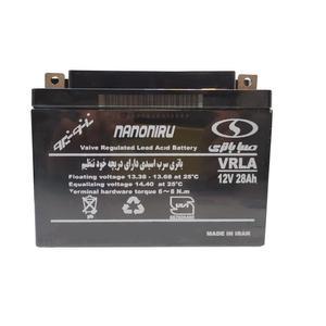 باتری یو پی اس 12 ولت 28 آمپر ساعت صبا باتری مدل SB