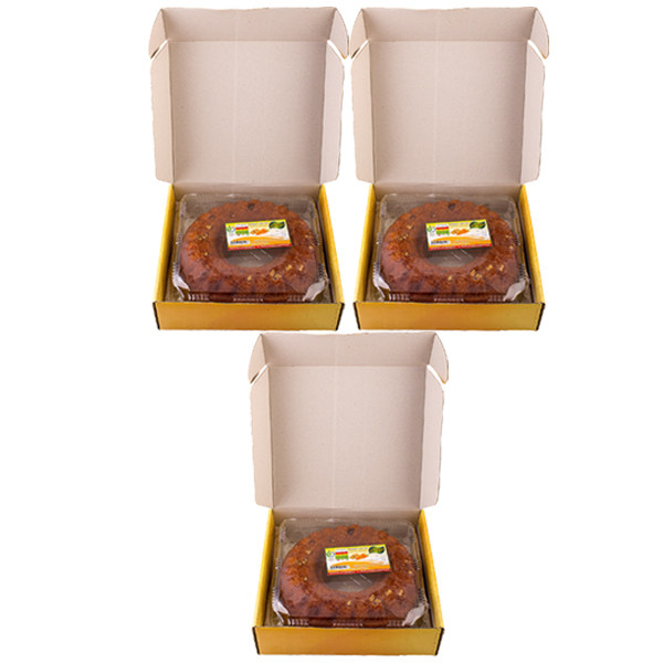 کیک روغنی هویج گردو مهفام - 620 گرم بسته 3 عددی