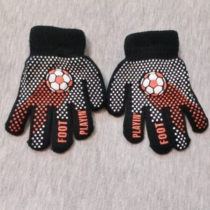 دستکش بافتنی بچگانه مدل فوتبال کد 90