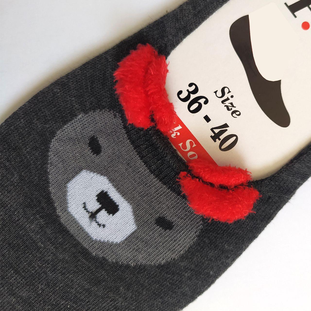 جوراب زنانه پی تی طرح خرس کد J016 -  - 3