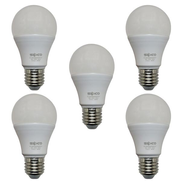 لامپ کم مصرف 9 وات سیدکو مدل Hob1 پایه E27 مجموعه 5 عددی