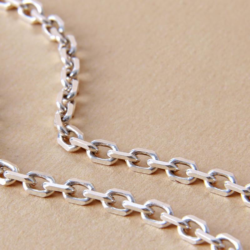 زنجیر نقره مردانه بازرگانی میلادی  کد  ZR_012