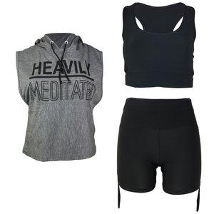 ست 3 تکه لباس ورزشی زنانه کد 511