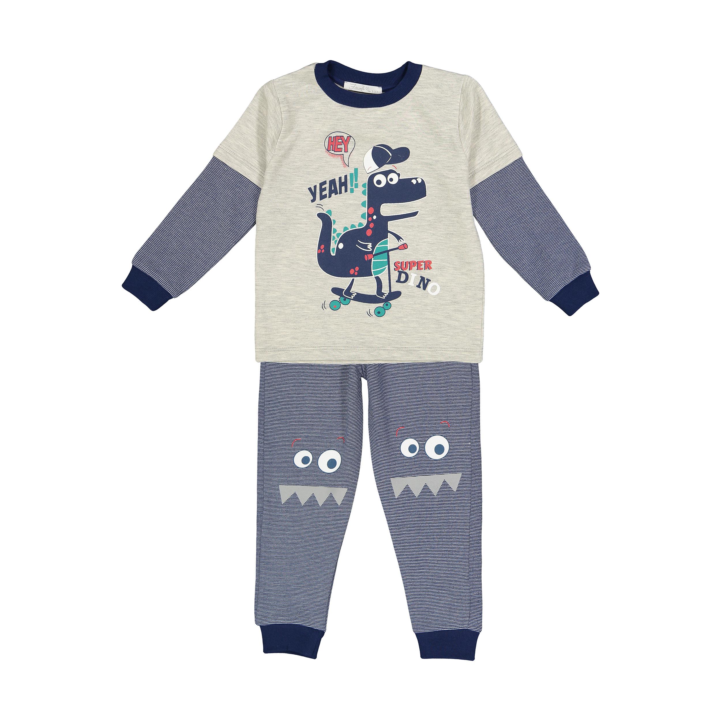 ست تی شرت و شلوار پسرانه فیورلا کد 30549