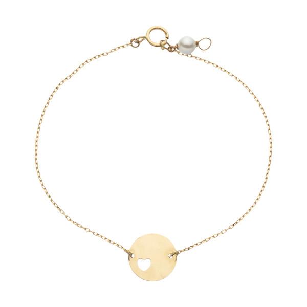 دستبند طلا 18 عیار زنانه نیوانی مدل DA2002