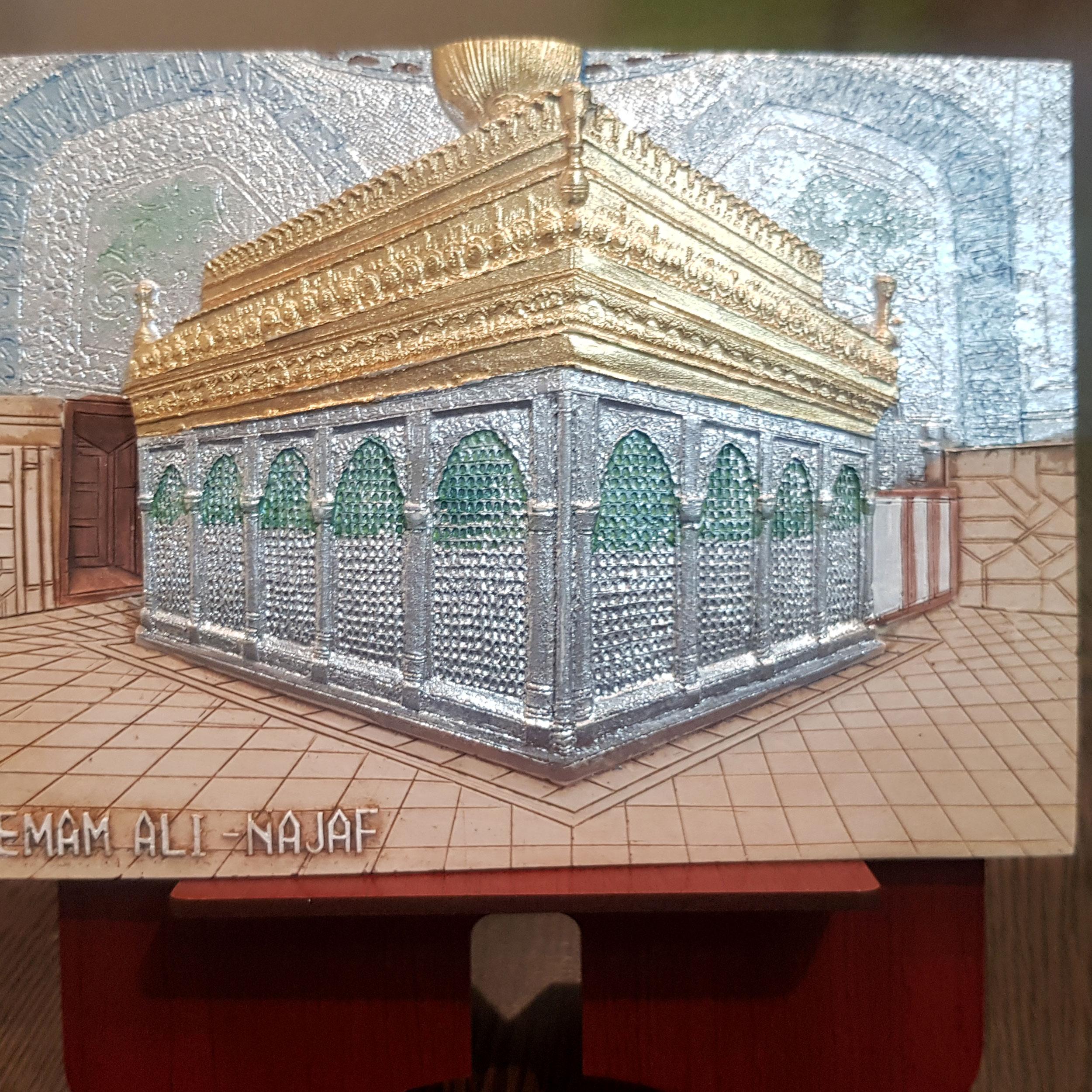 خرید                      تابلو برجسته طرح ضریح مطهر حضرت علی ع کد L505