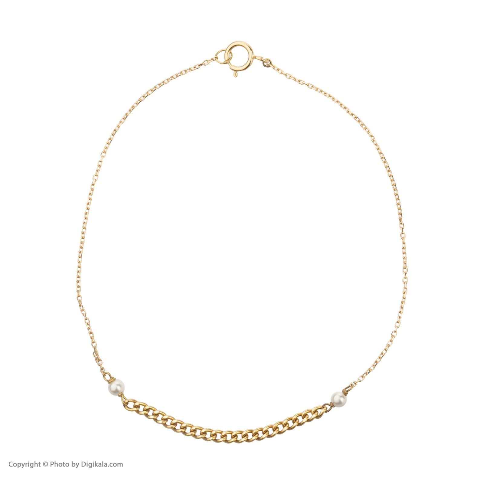 دستبند طلا 18 عیار زنانه نیوانی مدل DA818 -  - 3