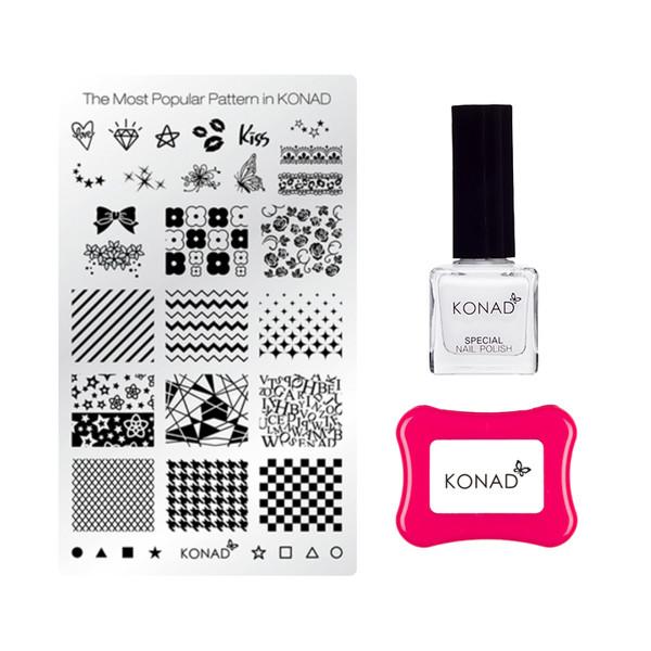 مجموعه آرایش ناخن کناد مدل Basic Gelly Stamping Set