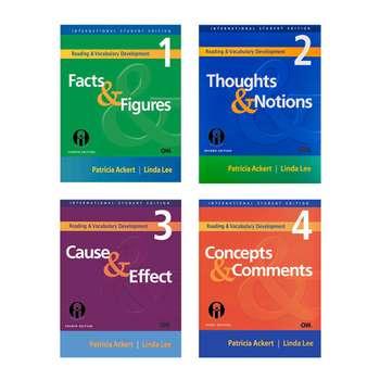 کتاب Reading And Vocabulary Development اثر Patricia Ackert And Linda Lee انتشارات الوندپویان چهار جلدی
