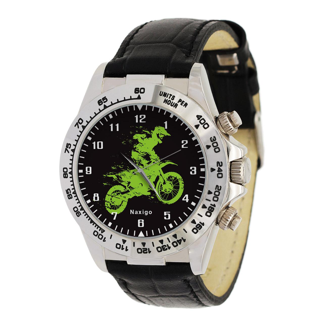 ساعت مچی  مردانه ناکسیگو طرح موتورسواری کد LS3561