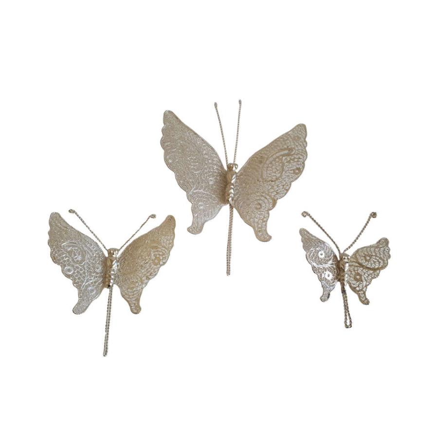 پروانه ملیله کاری کد amng03 مجموعه 3 عددی