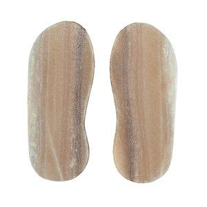 سنگ نمک پا مدل هیمالیا وزن 1500 گرم بسته 2 عددی