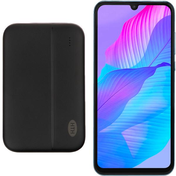 گوشی موبایل هوآوی مدل Y8p AQM-LX1 دو سیم کارت ظرفیت 128 گیگابایت و رم 6 گیگابایت به همراه شارژر همراه اچ تی اچ مدل H5000 ظرفیت باتری 5000 میلی آمپر ساعت