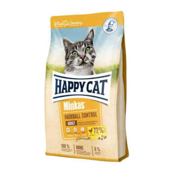 غذای خشک گربه هپی کت مدل Hairball Control وزن 10 کیلوگرم
