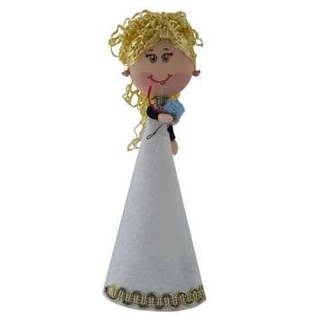 عروسک طرح سوزی مدل عروس کد 310 ارتفاع 23 سانتی متر