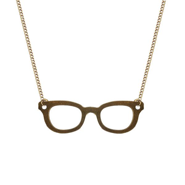گردنبند زنانه نمدیکا طرح عینک