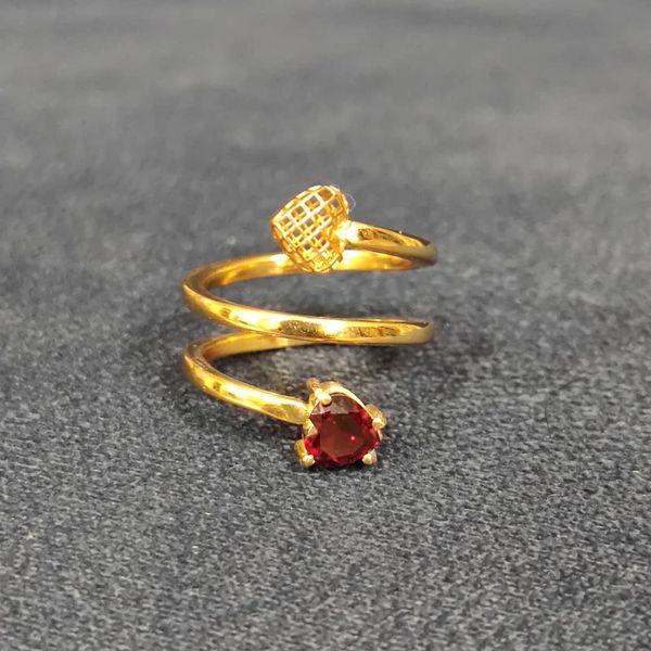 انگشتر طلا 18 عیار زنانه قیراط طرح قلب کد GH116