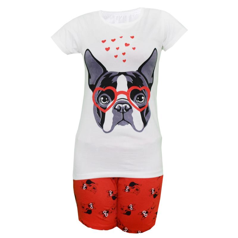 خرید                                      ست تی شرت و شلوارک زنانه مدل Bad Dog