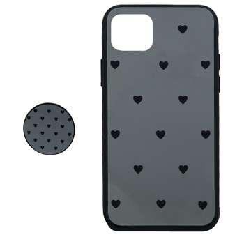 کاور طرح Heart مدل BH-01 مناسب برای گوشی موبایل اپل  Iphone 11 Pro Maxبه همراه نگهدارنده