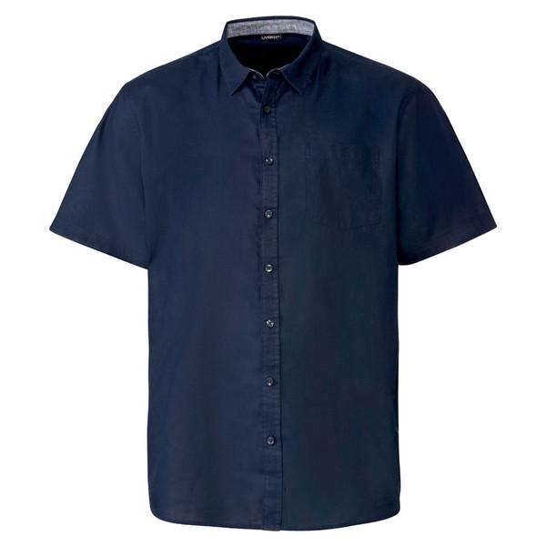 پیراهن آستین کوتاه مردانه لیورجی مدل p348053 رنگ سرمه ای