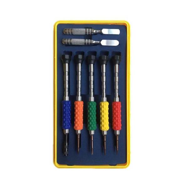 مجموعه 5 عددی پیچ گوشتی یاکسون مدل YX-8186 به همراه دو عدد قاب بازکن