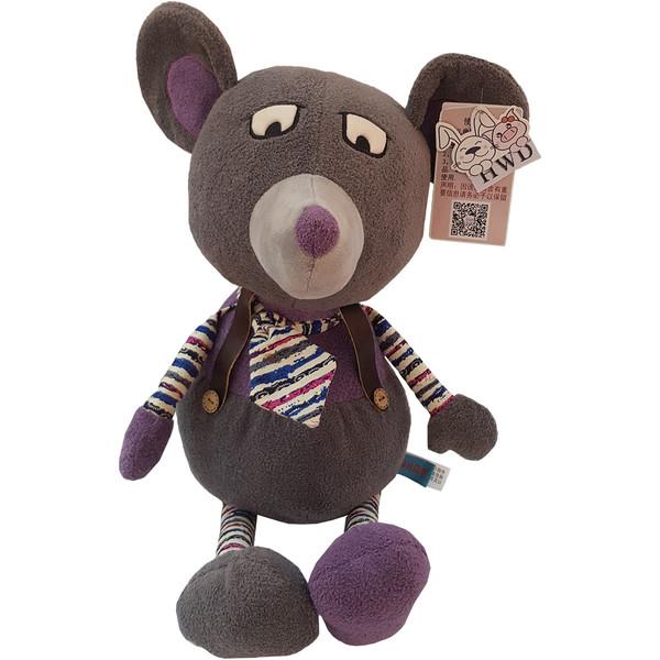 عروسک اچ دبلیو دی طرح موش کراواتی ارتفاع ۴۰ سانتی متر