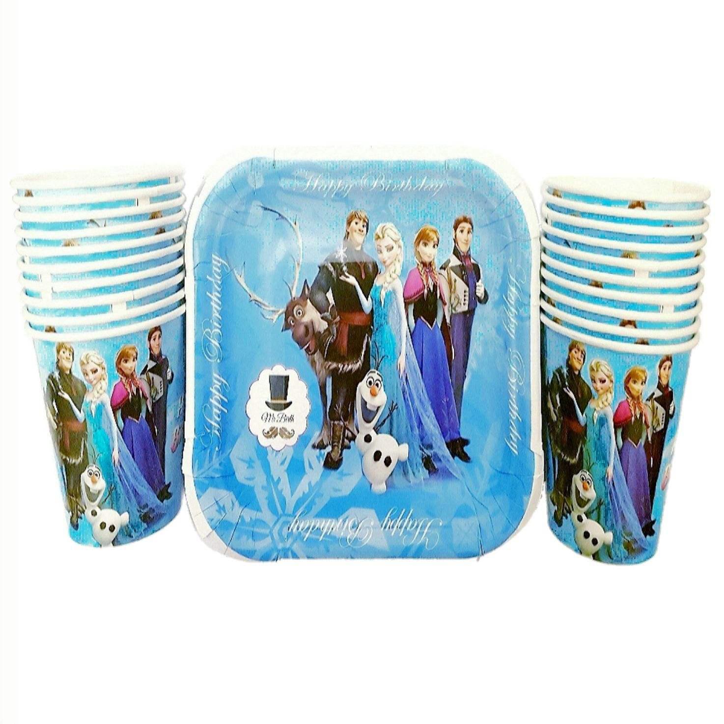 پیش دستی و لیوان یکبار مصرف مدل Frozen مجموعه 40 عددی