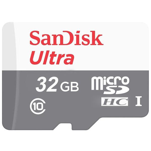 کارت حافظه microSDHC سن دیسک مدل Ultra کلاس 10 استاندارد UHS-I U1 سرعت 100MBps  ظرفیت 32 گیگابایت