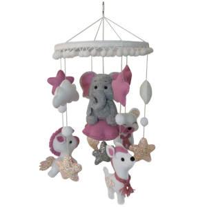 آویز تخت کودک مدل آهو و فیل