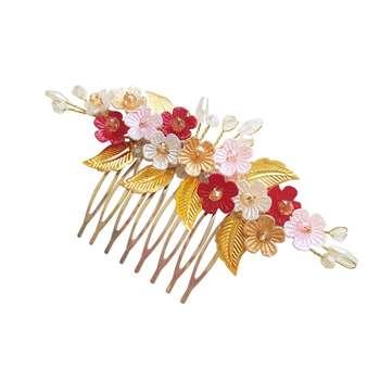 شانه مو زنانه مدل گل و برگ کد ACC001