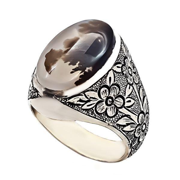 انگشتر نقره مردانه مدل ش VA9875