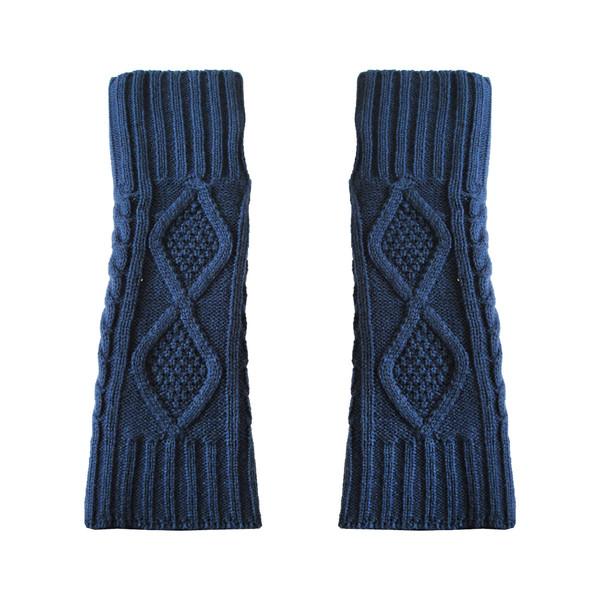 ساق دست بافتنی زنانه مدل LOZ کد 30759 رنگ آبی
