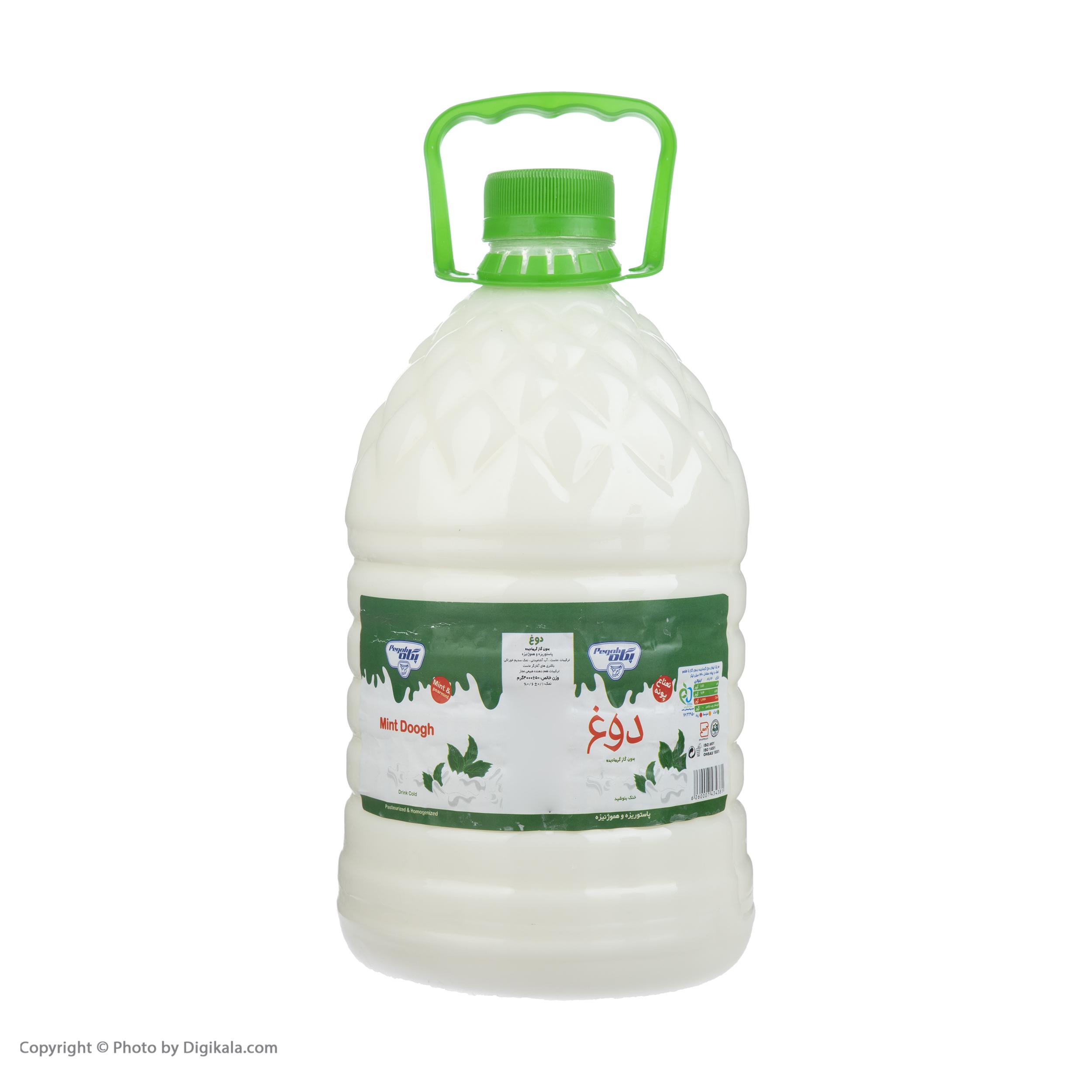 دوغ بدون گاز پگاه با طعم نعنا - 4 کیلوگرم