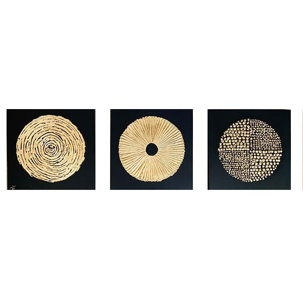 تابلو نقاشی ورق طلا کد 0034 مجموعه 3 عددی