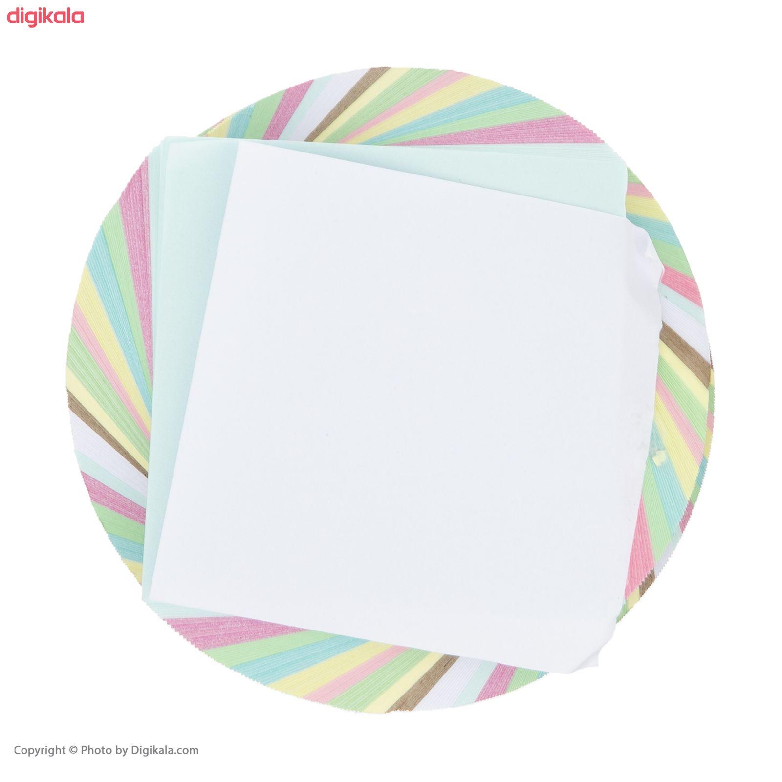 کاغذ یادداشت 10 رنگ طرح چرخشی main 1 3