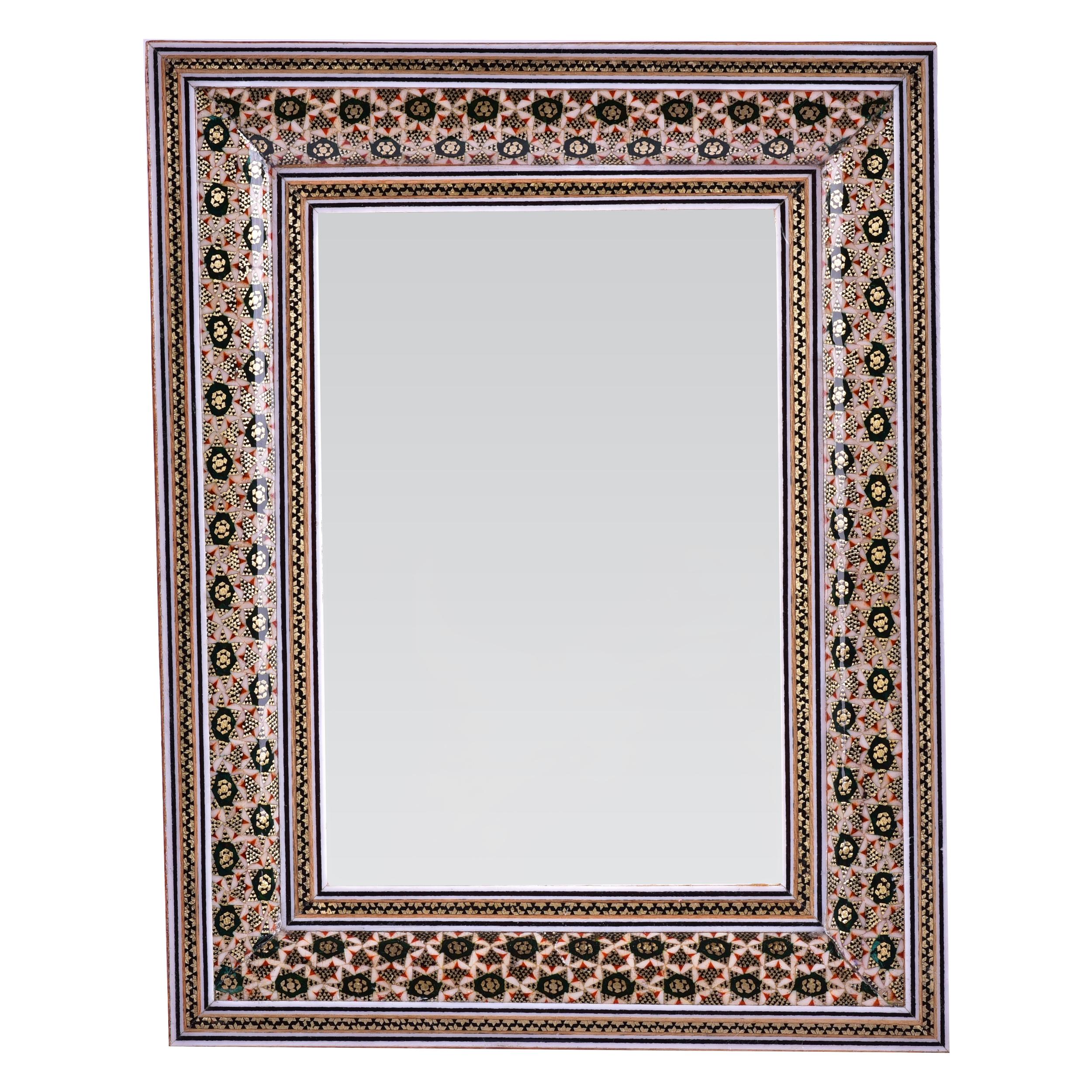 قاب آینه خاتم کاری طرح تذهیب  کد 2519