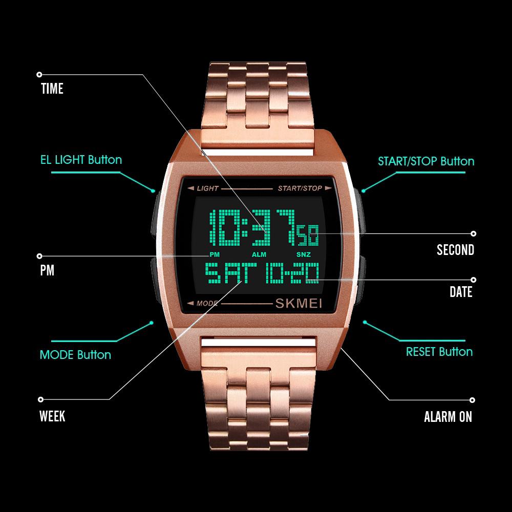 قیمت و خرید                      ساعت مچی دیجیتال مردانه اسکمی مدل 1368GL
