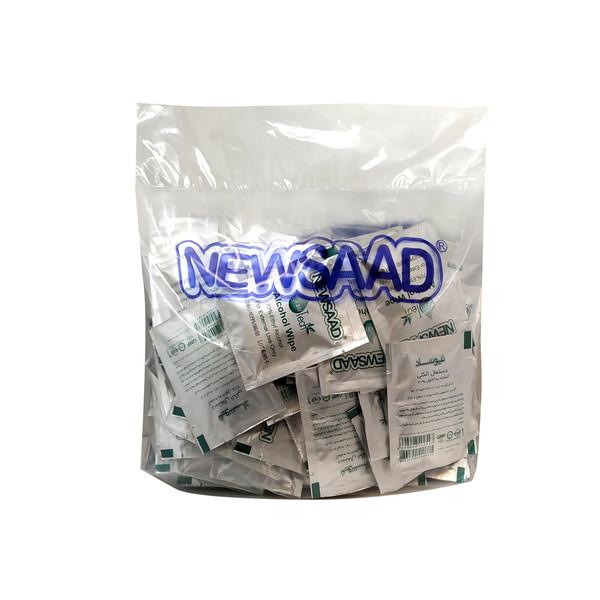 دستمال الکلی نیوساد مدل +A بسته 100عددی
