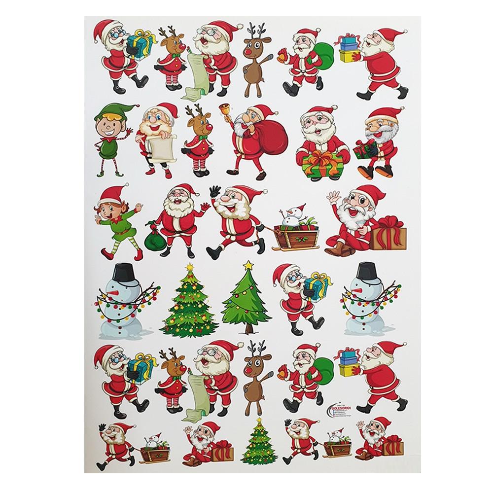 خرید                      کاغذ ترنسفر طرح بابانوئل کد re21