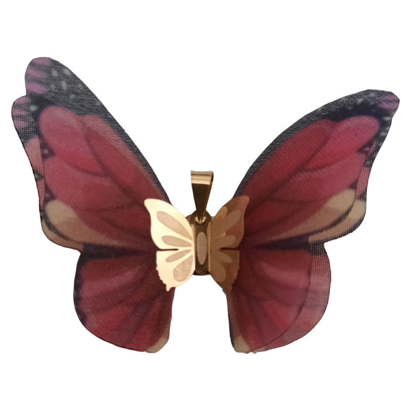 آویز گردنبند طلا 18 عیار زنانه  گالری یارطلا مدل پروانه کد AP16