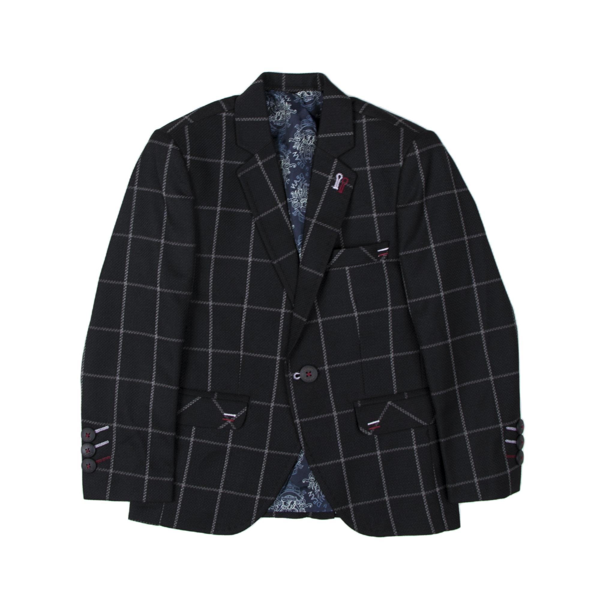 کت تک پسرانه مدل چهارخانه